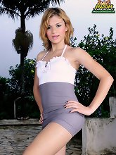 Hot blonde latin T-girl